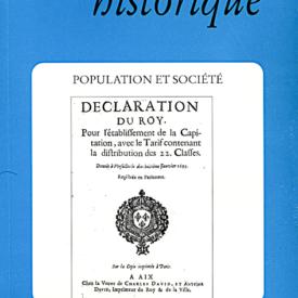 1994, tome 44, 175 « Population et société »