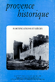 1994, tome 44, 176 « Fortifications et sièges »