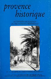 2001, tome 51, 206 « Activités humaines en Provence orientale (1) »