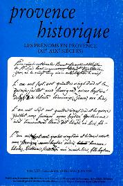 2003, tome 53, 212 « Les prénoms en Provence (XIe-XIXe siècles) »