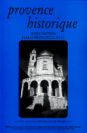 2003, tome 53, 213 « Rencontres italo-provençales (1) »